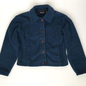 Patagonia Synchilla Blue Button Down Jacket Fleece